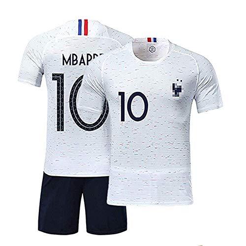LSY Camiseta y Pantalones Cortos de fútbol de Francia 2018 Copa del Mundo Equipo de Francia Juego de 2 Estrellas Fútbol