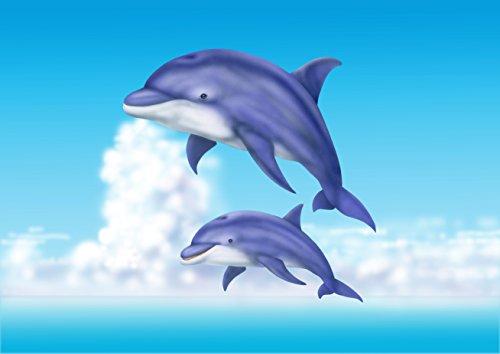 Le tapis de salle de bain dauphins