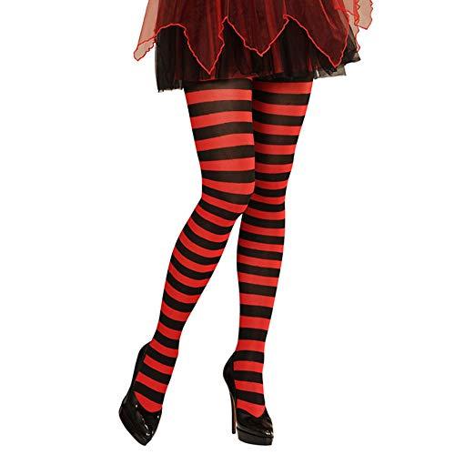 Widmann ? Striped Pantyhose Collants Cartonné, rouge/noir, 70 deniers