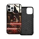 Compatible con iPhone 12/11 Pro MAX 12 Mini SE X/XS MAX XR 8 7 6 6s Plus Case Contre Les Chutes - Star Wars Clone Trooper Armor Vador Negro Cajas del Teléfono Cover