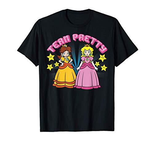 Super Mario Peach And Daisy Team Pretty T-Shirt