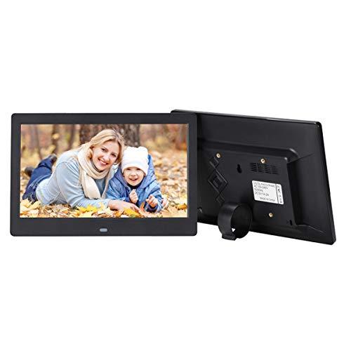 Digital Photo Frame Met 1024X600 Met Hoge Resolutie 16: 9 Display - 10.1 Inch Electronic Fotolijsten Met Afstandsbediening, Goed Cadeau Voor Vrienden Family,Black
