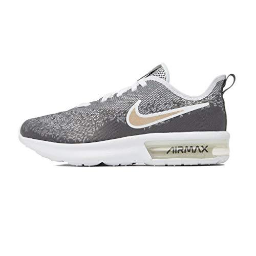 Nike Air Max Sequent 4 EP (GS), Scarpe da Atletica Leggera Donna, Multicolore (White/White/Dark Grey/Blur 000), 35.5 EU