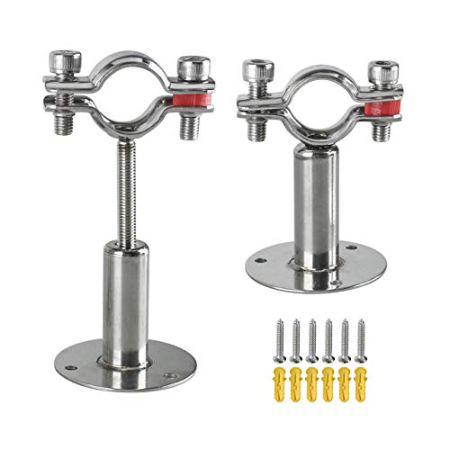 Magiin 2 Stück Rohrhalterung aus Edelstahl für die Deckenmontage, verstellbare Rohrhalterung, Rohrschellen (1 Zoll)