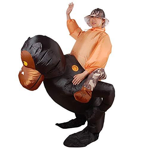 Gorilla Costume Gonfiabile, Scimmia Colobus Cavaliere Halloween Cosplay Cute Costume Animali del Vestito di Ruolo per Adulti