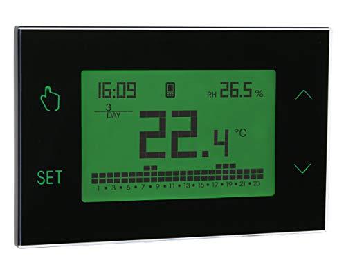 Vemer VE771900 Tuo GSM Nero Cronotermostato settimanale da parete controllabile da smartphone