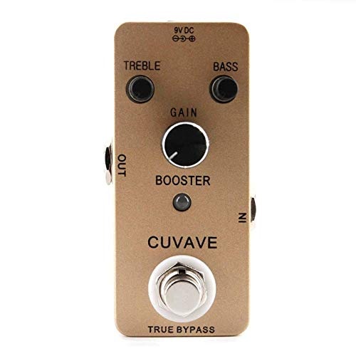 ABMBERTK Pure Booster Guitar Effect Pedal, True Bypass Guitar Parts Accessories, 2-Band EQ Booster Guitar Pedal,A