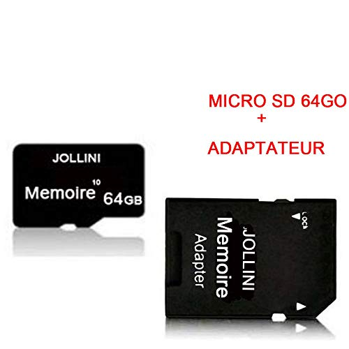 Samsung Galaxy S10 (6,1 inch) Micro SD geheugenkaart 64GB Class 10 + SD-adapter Jollini®
