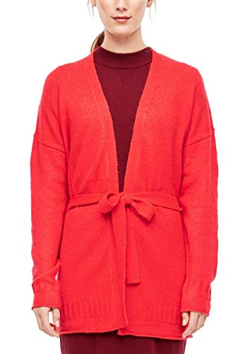 s.Oliver RED Label Damen Wickel-Cardigan aus Wollmix red 42