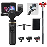 Action Camera Gimbal Stabilizer Compatible with GoPro Hero10/9/8/7, OSMO Action, Insta360 ONE R ,prvide Extra Extension Rod and Tripod, Inkee Falcon