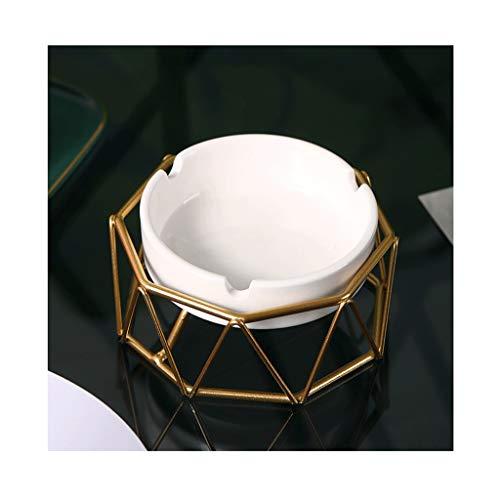 Cenicero Regalo Geométrica de Oro Cenicero de cerámica con