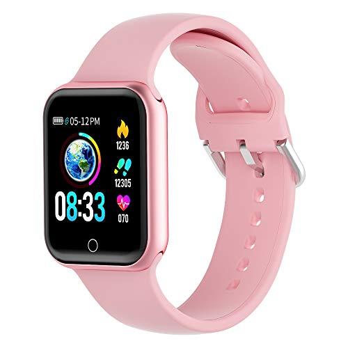 KUNGIX Smartwatch, Smart Watch mit Blutdruckmessung IP68 Wasserdicht Fitness Uhr Mit Pulsmesser Schrittzähler für Damen