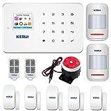 KERUI - G18 Alarme Maison sans Fil Téléphonique GSM - Maison Porte Fenêtre de Sécurité Détecteur de Alarme - Detecteur Magnétique Ouverture Porte Fenêtre Alarme Sécurité Maison
