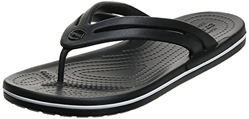 Crocs Women's Crocband Flip Flops | Sandals for Women, Black, 9 Women