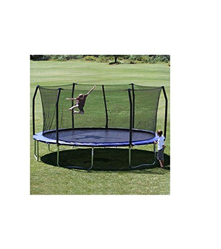 17' x15' Oval Trampoline and Enclosure Pad Color: Blue