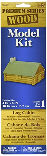 Darice 1-Piece Log Cabin Wood Model Kit