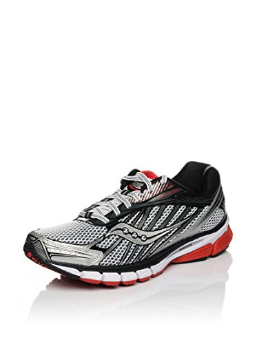 Saucony Men's Ride 6 Running Shoe,White/Red/Black,10.5 M US