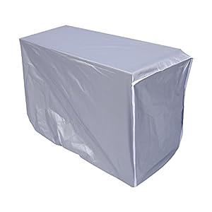 Funda de Aire Acondicionado Exterior Rectangular para acondicionador de Aire Antipolvo, antinieve, Impermeable, 3 tamaños, Color Plateado (tamaño: 80 x 28 x 54 cm)