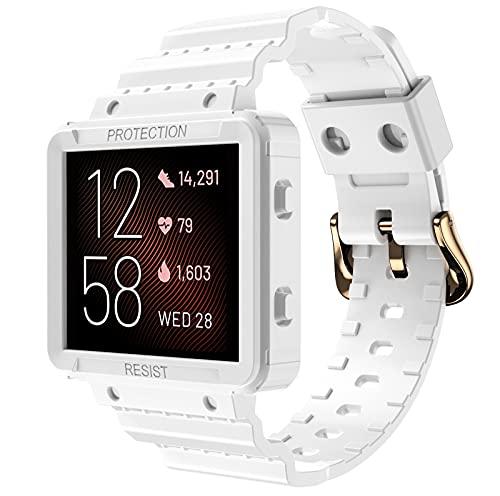 Shieranlee Sport Bands Compatible con Fitbit Blaze Correa de Reloj,Suave Silicona de Ajustable Deportiva Pulsera de Reemplazo Compatible para Fitbit Blaze