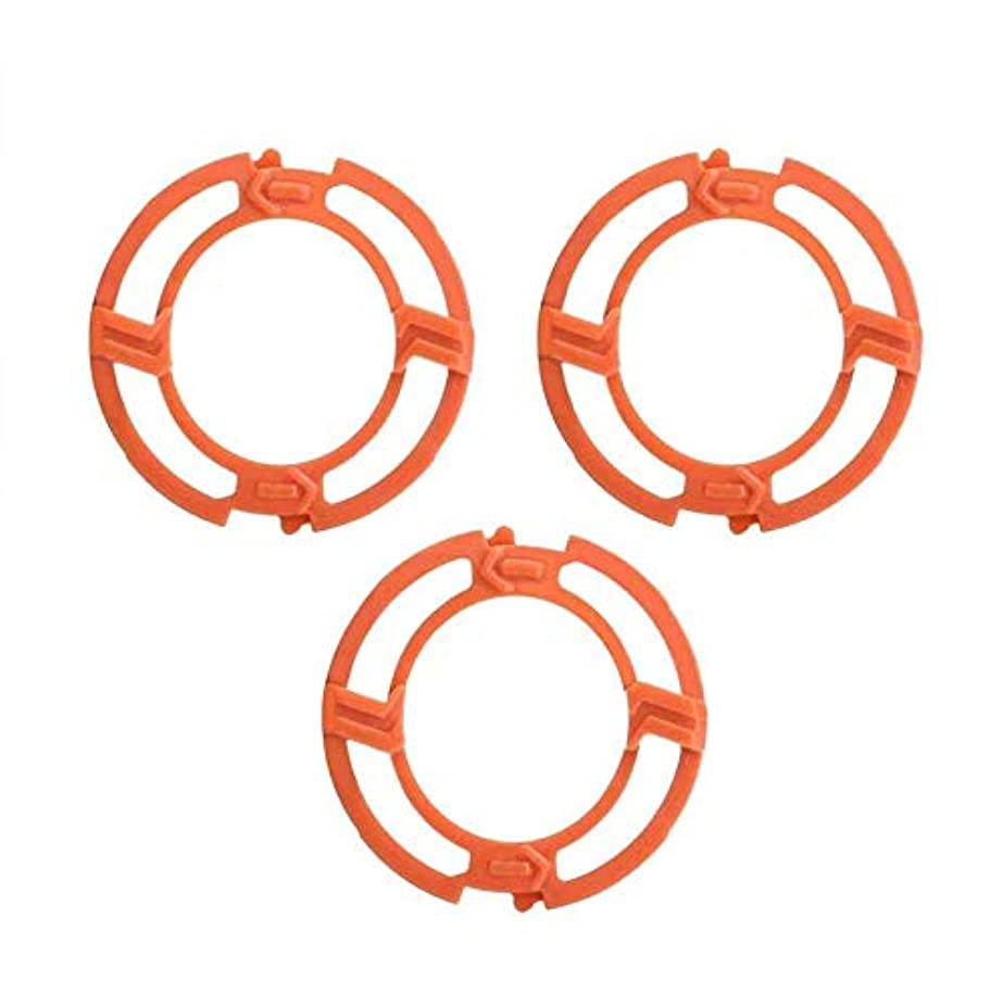 達成み許容FairCargo シェーバーヘッドフレームホルダーカバー ブレードフレーム Philips Norelcoシリーズ7000 9000 RQ12シリーズ用 オレンジ 3PCS