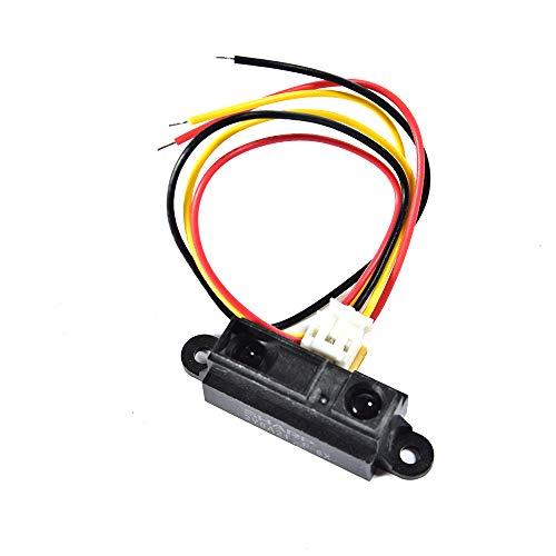 Comimark 1Pcs GP2Y0A21YK0F Sharp IR Analog Distance Sensor Distance 10-80CM Cable for Arduino