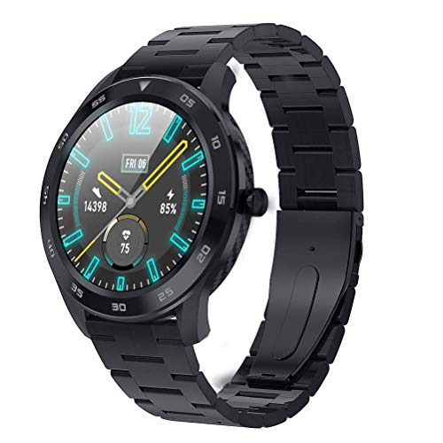DSY Menores de Hombres Smartwatch, ECG PPG Hrv Health Smart Watch con Calorías Temperatura Temperatura Monitoreo de Ritmo Cardíaco GPS Toma Fotos 25 Funciones, B2 Control de Voz / A1