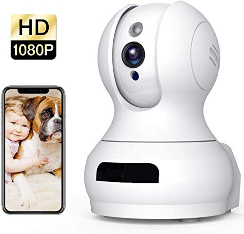 Draadloze camera 1080P HD WiFi Huisdiercamera Babyfoon 2-weg audio Nachtzicht Dome Beveiligingscamera Camera met bewegingsdetectie Nachtzicht Ouder/Nanny Beveiligingscamera