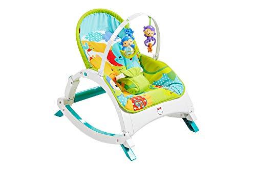 Fisher-Price - Fisher-Price - Baby Gear Dondolino Poltroncina Cuccioli della Natura, Adatto per la Pappa, il Gioco e per la Nanna, dai 0 Mesi, Multicolore, Cmr10