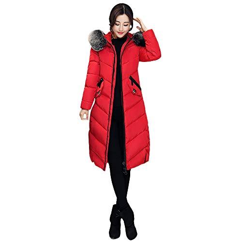 Manteau Femme Hiver,Longue Veste en Coton-Doudoune avec Poche Parka Bringbring