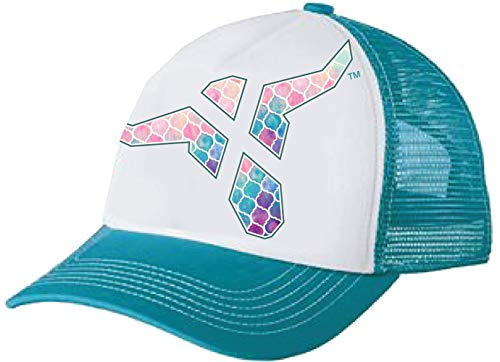 Wrangler Girl's Toddler/Youth Watercolor Bull Mesh Back Trucker Cap White