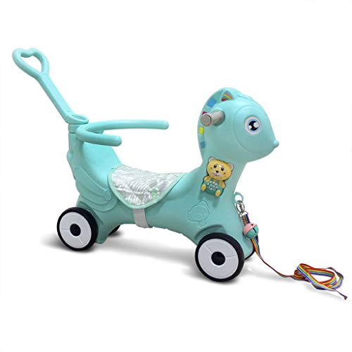 PanStro 2 in 1 Children's Dual-Use Rocking Horse, Riding Horse for Toddlers, Kids Rocking Toy for 1-6 Year Old, Boys and Girls
