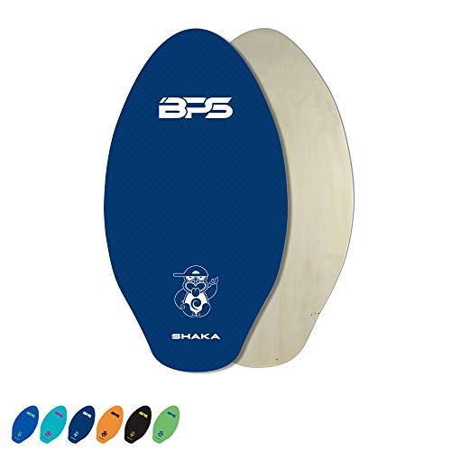 BPS 'Shaka' 30' Skimboard - Laminated Wooden Skimboard with Grip Pad - No Wax Needed - Skimboard for Kids and Adults (Dark Blue)