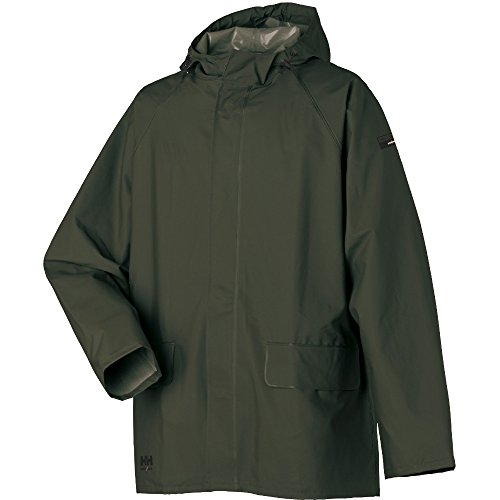Helly Hansen Mens Mandal PVC Durable Hooded Workwear Jacket Coat