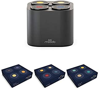 Moodo Smart Home Fragrance Diffuser Bundle with 3 Scent Capsules Sets (Value Pack) - scent personalization, Alexa Compatible, includes 12 Scent Pod Refills, Black Moodo Value Pack 2