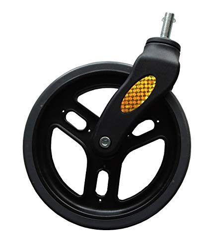 FabaCare Vorderrad für Rollator LR170 9269, Rad schwarz, mit Reflektoren