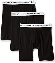 Tommy Hilfiger Men's 3-Pack Cotton Boxer Brief,Black,Medium(32-34)