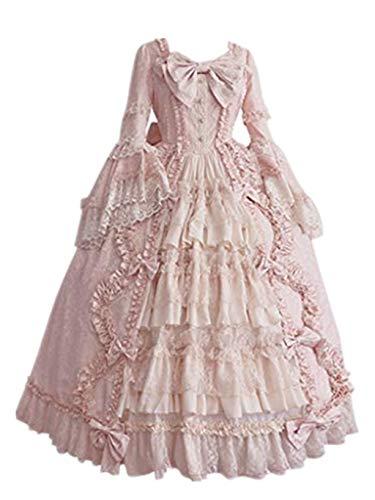 Solike Rokoko Kleid Damen, Mittelalter Viktorianisches Kleider Gothic Lolita Kostüm Halloween Cosplay Prinzessin Dress ( M )