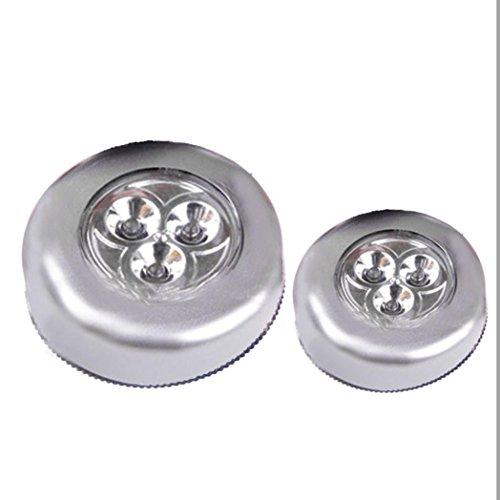 INDEXP Touch lámpara LED luz nocturna, largo de última inalámbrico Mini pared pegatina de coche