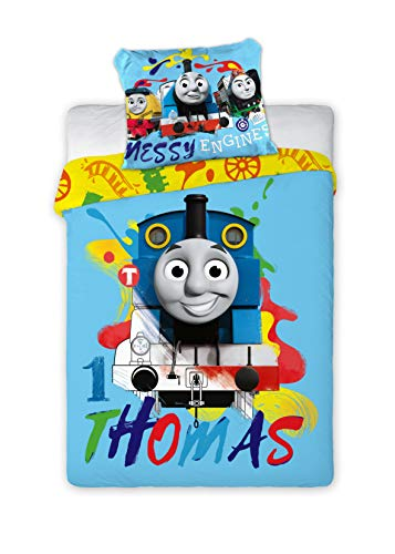 Thomas and Friends 046 - Juego de ropa de cama infantil (100 x 135 cm y 40 x 60 cm)
