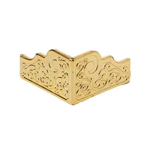 JJZXD 20 unids Caja de joyería de Oro Caja de Madera pies Decorativos de la Pierna Protector de la Esquina plástico