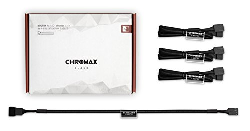 Noctua NA-SEC1 chromax.black, 3-Pin/4-Pin Verlängerungskabel (30cm, Schwarz)