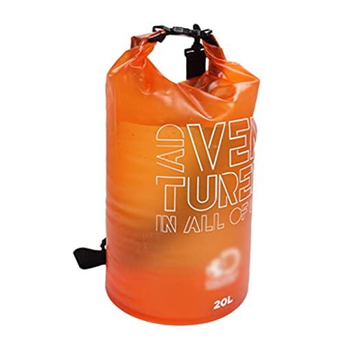 PVC 250D Borse Impermeabile, 20L Leggero Zaino Galleggiante a Secco con Tracolla Staccabile, Mantieni L'attrezzatura Asciutta e Pulita, per Gli Sport Acquatici (Color : Orange)