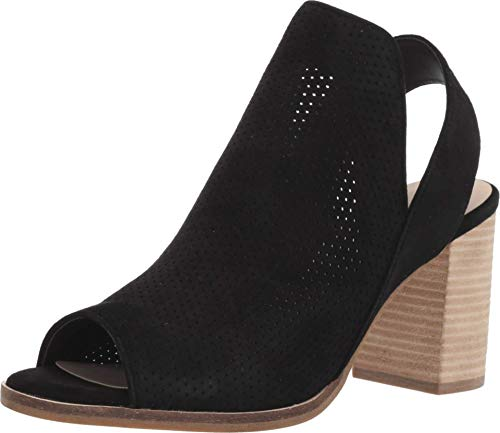 Cole Haan Women's Callista Open Toe Sling Bootie (75MM) Ankle Boot, Black Suede Perforated, 9 B US
