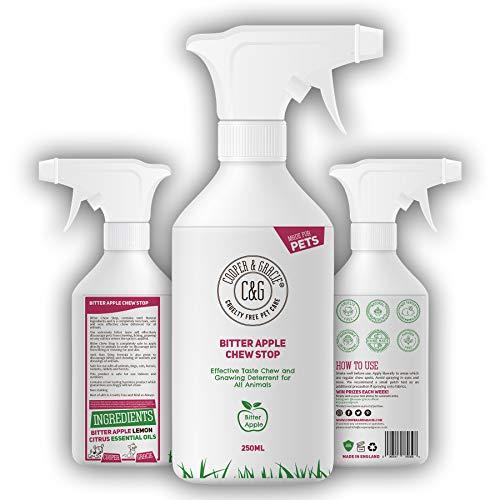 C&G - Spray de Manzana para Perros sin Masticar - Detiene el disuasorio de Masticar - Fórmula Repelente de Alcohol para Cachorros, Gatos, Caballos y roedores