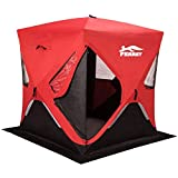 """FERRET 1-2 Person 58\""""X58\""""X66\"""" Waterproof Pop-up Portable Ice Shelter Tent Ice Shelter Fishing Tent with Carrier Bag"""
