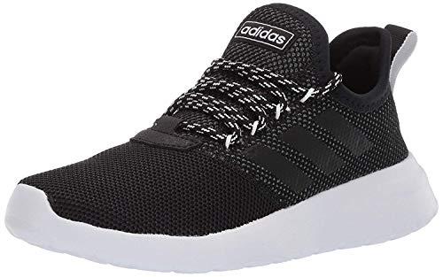 adidas Women's Lite Racer Reborn Running Shoe, Black/Black/Grey, 5 M US