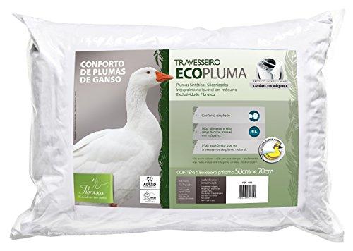 Travesseiro Ecopluma para Fronhas Revestimento Algodão Percal Fibrasca Branco 50x70 cm