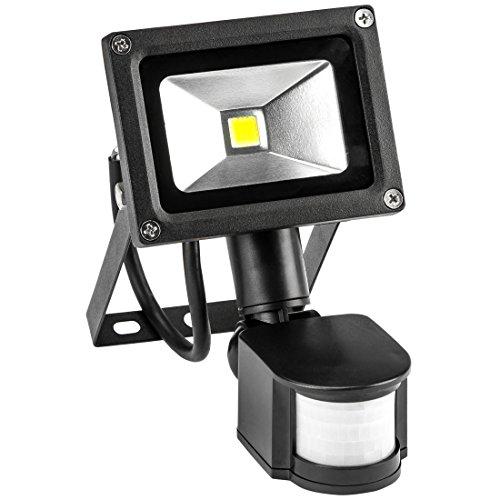 Levivo Foco LED con sensor de movimiento, Negro