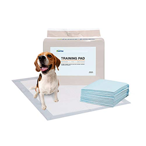 Bluerise Potty Pads for Dogs Quick Drying Puppy Pads Pet Traning Pads Super Absorbent Pee Pads for Dogs Dog Pads for Small Dogs 22 x 22 100 Counts