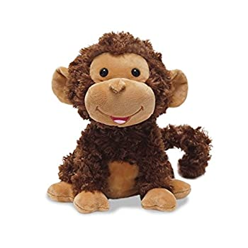 Cuddle Barn - Crackin  Up Coco   Super Soft Animated Twirling Moving Monkey Stuffed Animal Plush Toy Spins Around Making Monkey Sounds 10 Inches